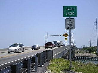 Plantation Key - Snake Creek drawbridge at the southern tip of Plantation Key.