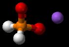 Bal-en-stok model van de component ionen