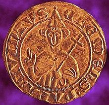 Sou d'or de Clément V frappé à Sorgues 1310.jpg