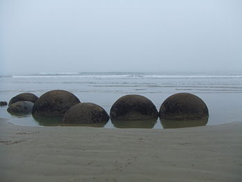 A clump of highly spherical boulders