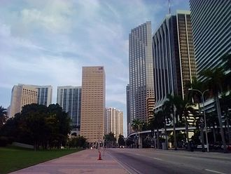 U.S. Route 1 in Florida - Biscayne Boulevard in Downtown Miami