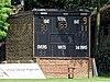 Southgate CC scorebox scoreboard, Walker Cricket Ground, Southgate, London, England 01.jpg