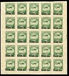 "Soviet Union Air Post ""Wide 5"" surcharged 1924 pane of 25.jpg"