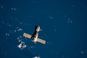 Soyuz TMA-18 - The Soyuz TMA-18 spacecraft departs the ISS.