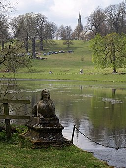 Sphinx, Studley Park lake - geograph.org.uk - 1263336