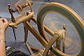 Spinning wheel spinning wool.jpg