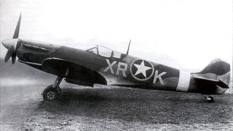 4th Operations Group - Spitfire MK V of the 334th Fighter Squadron, 4th Fighter Group in 1942. Note the RAF 71 Eagle Squadron markings on the fuselage with the USAAF emblem overlaid over the RAF roundrel.
