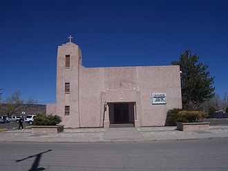 Grants, New Mexico - Grants' only Catholic church, St. Teresa