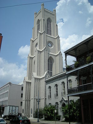 St. Patrick's Church (New Orleans, Louisiana) - St. Patrick's Church, 724 Camp Street; parish rectory to the right