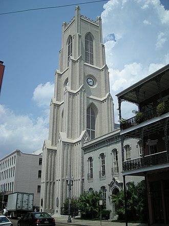 St. Patrick's Church (New Orleans, Louisiana) - St. Patrick's Church, 724 Camp Street; parish rectory to the right