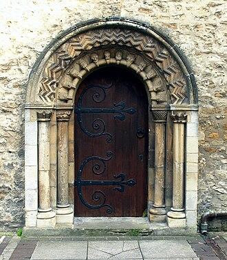 St Ebbe's Church, Oxford - Norman period west door