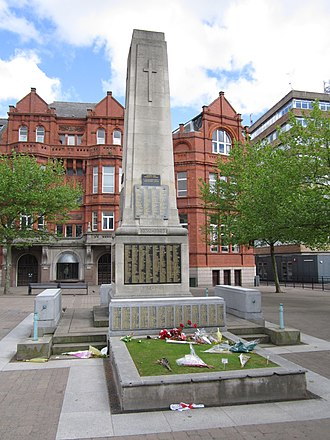 History of St Helens, Merseyside - Cenotaph in St. Helens, commemorating her war dead