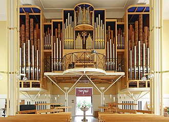 St Peter's Church, Eaton Square - The organ inside St Peter's after the 1991 rebuilding