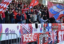 HIFK Fotboll supporters June 2017. 87c9870e9a9d4