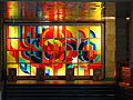 Stained glass inside Mykolaiv railway station.jpg