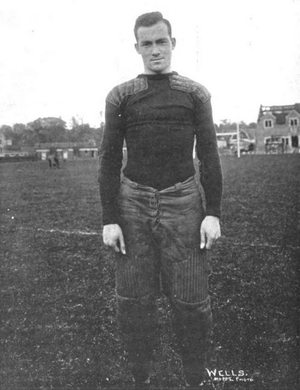 Stanfield Wells - Stanfield Wells became an All-American in 1910, photo c. 1911.
