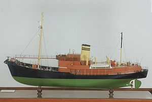 Sandefjord Museum - Image: Star VI+VII whale catcher model (HS.02804 2)