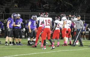 Centennial High School (Columbus, Ohio) - The Centennial football team playing at Desales High School.