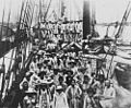 StateLibQld 1 50564 South Sea Islanders on the deck of a ship arriving at Bundaberg, 1895.jpg