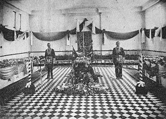 Augustus Charles Gregory - Sir Augustus Charles Gregory lying in state, Brisbane, 1905