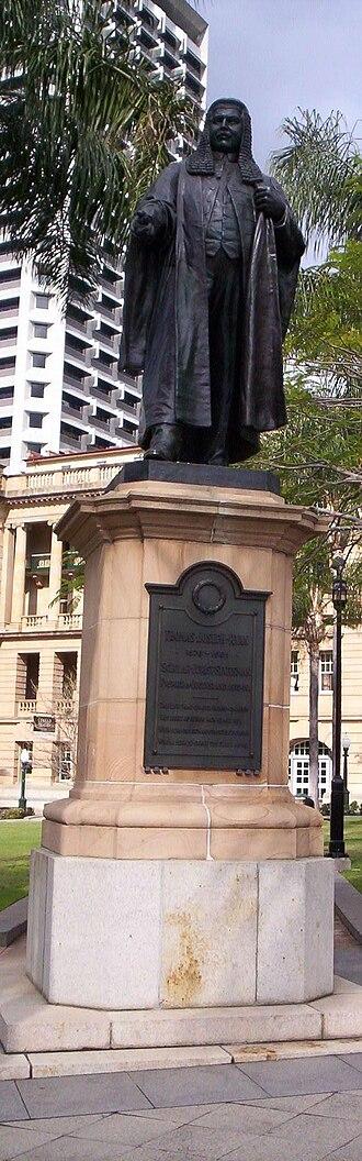 T. J. Ryan - Statue of Thomas J. Ryan in Queens Gardens, Brisbane