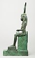 Statuette of Isis nursing Horus (missing above the legs), inscribed for Hor son of Padihorresnet MET 45.4.3 lp.jpg
