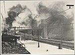 Steam trains on Harbour Bridge, 1932 (8283766022).jpg
