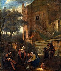 Scene at the well.