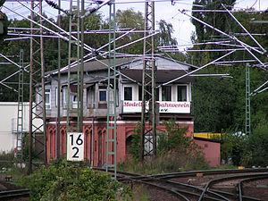 Hanover–Brunswick railway - Old signal box in Lehrte