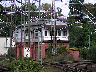 Hanover–Brunswick railway - Old signal box in Lehrte