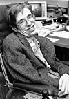 Stephen Hawking pictured at NASA's StarChild Learning Center in the 1980s