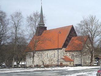 Stiklestad - View of the church in Stiklestad