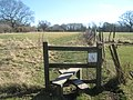 Stile on High Weald Landscape Trail near Bates Farm - geograph.org.uk - 1744023.jpg