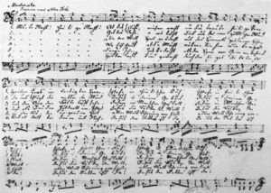Autograph of the carol by Gruber