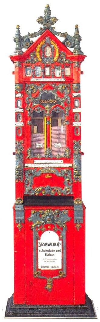 Stollwerck - Stollwerck vending machine, 1887
