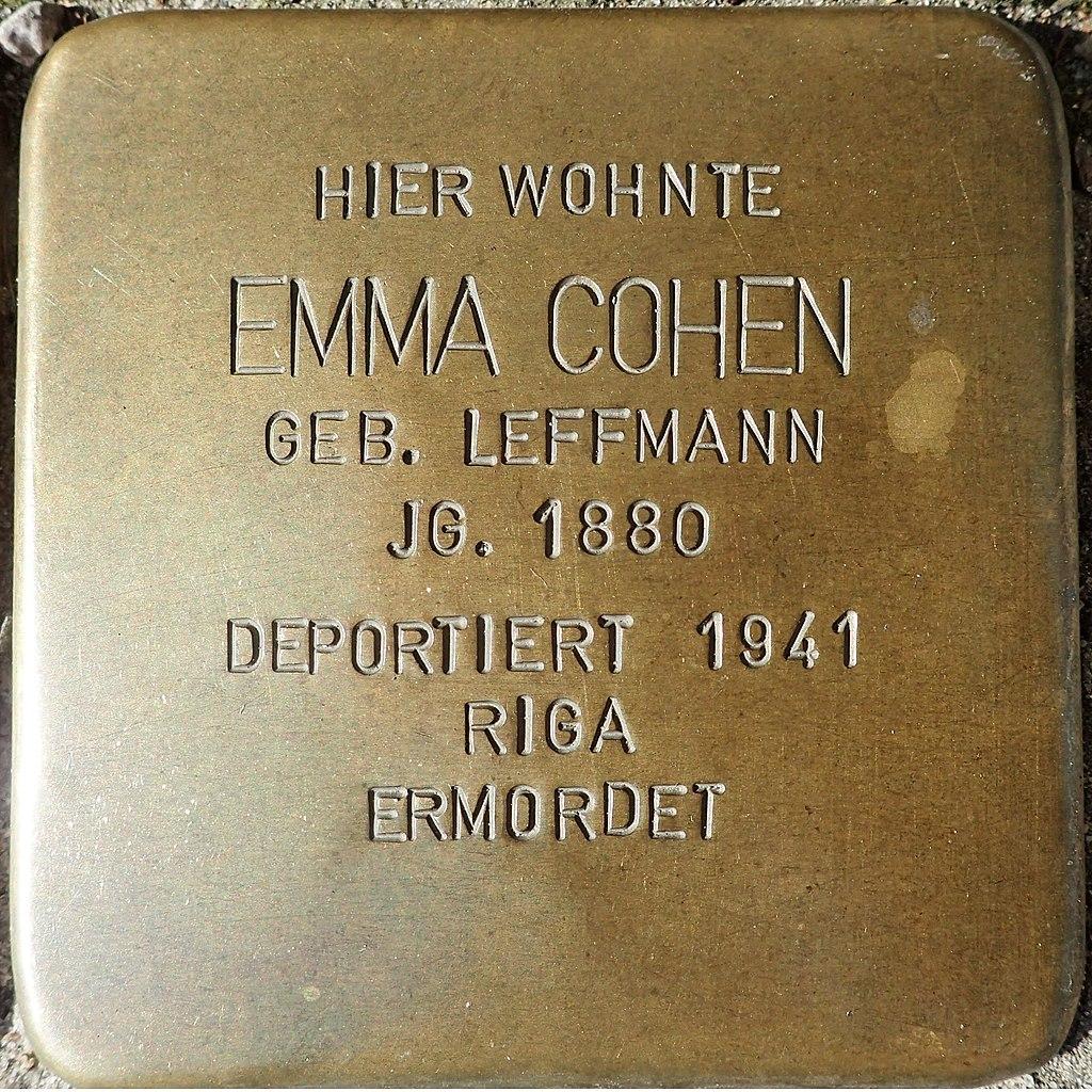 Stolperstein für Emma Cohen