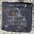 Stolperstein Cuxhavener Str 14 (Hansa) Gertrud Alter.jpg
