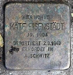 Photo of Käte Eisenstädt brass plaque