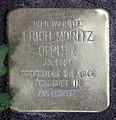 Stolperstein Krefelder Str 7 (Moabi) Erich Moritz Oppler.jpg