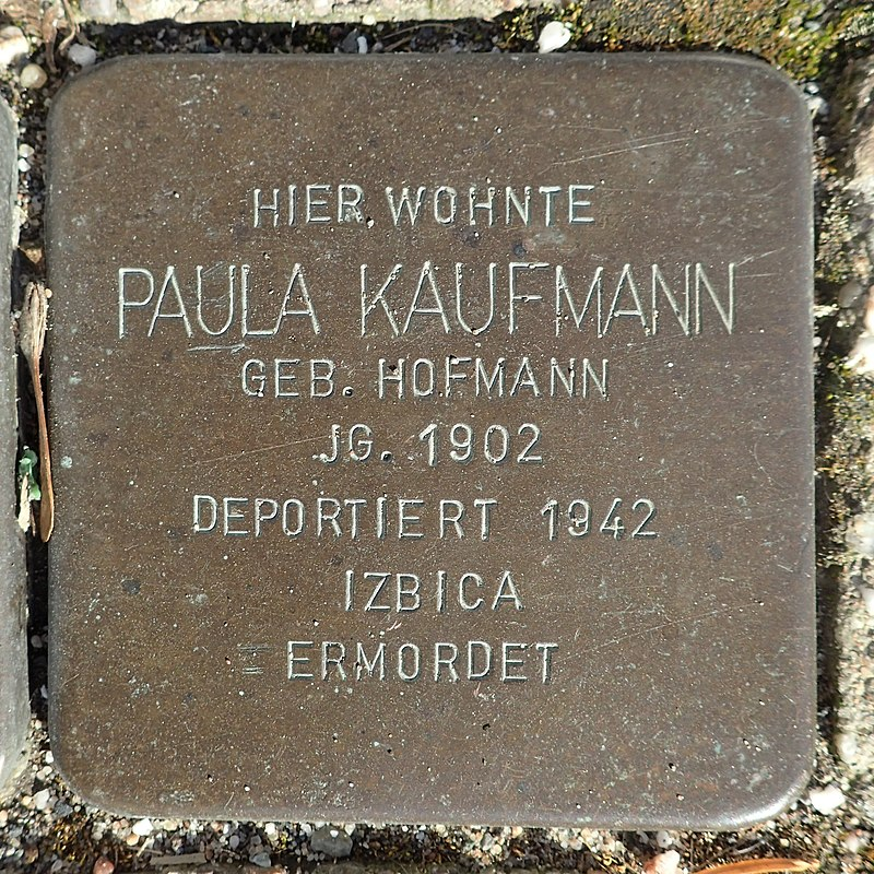 Stolperstein Rheurdt Rathausstraße 70 Paula Kaufmann