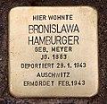 Stolperstein Richard-Strauss-Str 30 (Grune) Bronislawa Hamburger.jpg