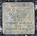 Stolperstein Schleswiger Ufer 5 (Hansa) Charlotte Schachian.jpg