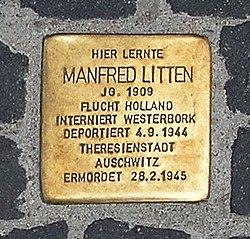 Photo of Manfred Ralf Litten brass plaque