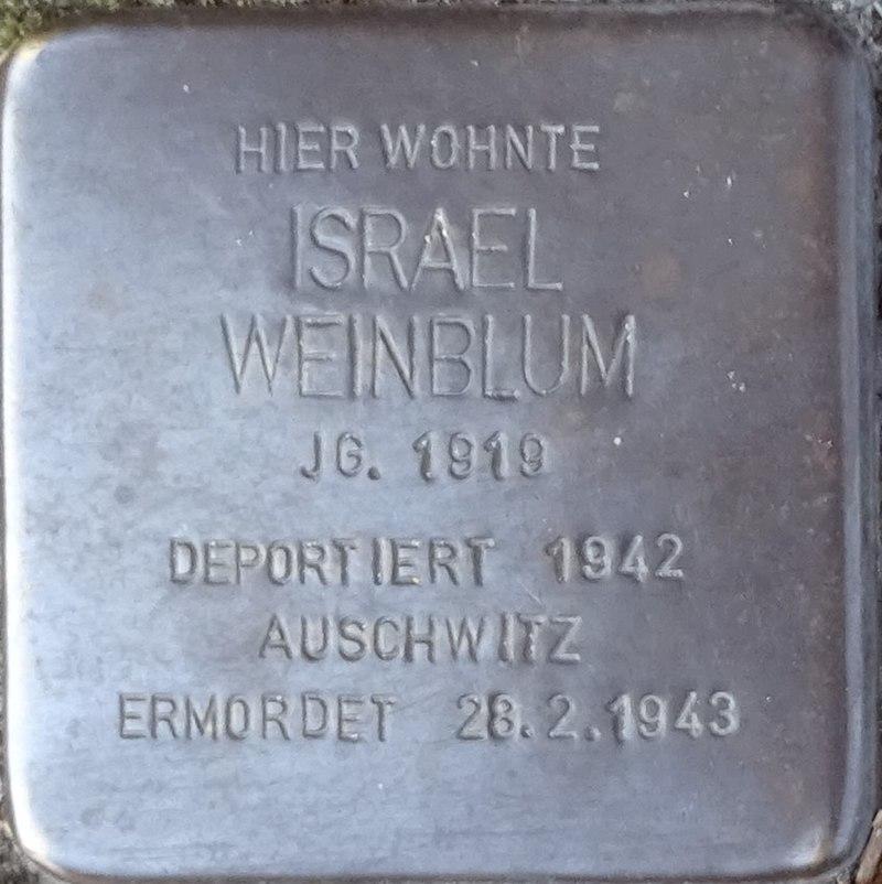 Stolpersteine Alsdorf Israel Weinblum Robert-Koch-Strasse 29.jpg