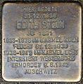 Stolpersteine Köln, Edith Stein - 4 (Vor den Siebenburgen 6).jpg