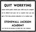 Stonewall Jackson Academy (Florence, SC) 1970 Advertisement.png