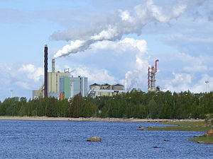 Stora Enso pulp and paper mill in Veitsiluoto,...