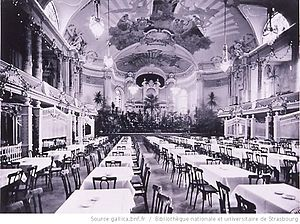Palais des Fêtes - The concert hall in 1909 prior to the inauguration of the pipe organ