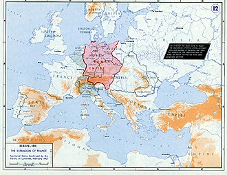 Napoleonic era - Strategic situation of Europe 1801