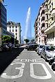 Street Scene with Jet d'Eau Water Fountain - Geneva - Switzerland.jpg